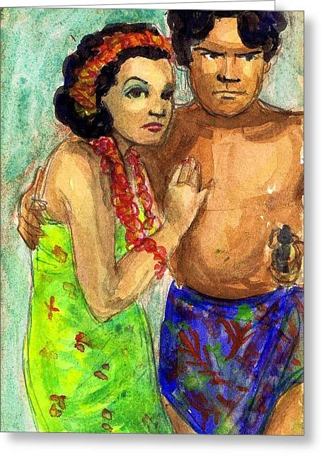 1936 Movies Greeting Cards - Mala and Mamo Greeting Card by Mel Thompson