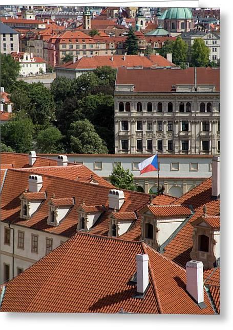 Czech Flag Greeting Cards - Mala Strana Greeting Card by Diane Macdonald