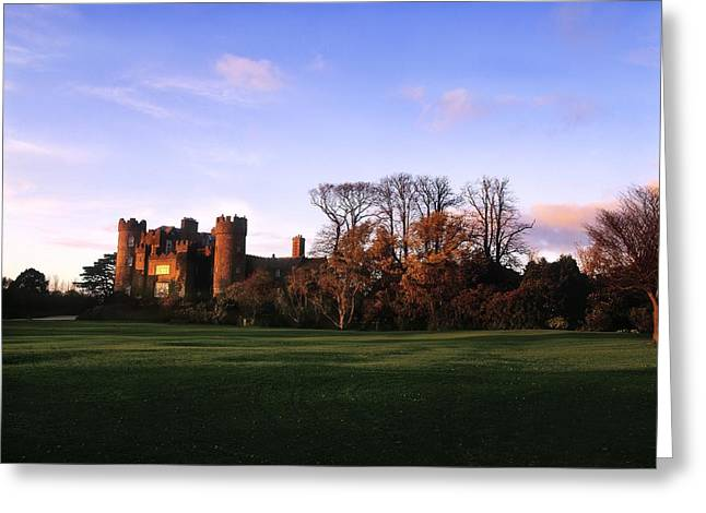 Statuary Garden Greeting Cards - Malahide Castle, Co Fingal, Ireland Greeting Card by The Irish Image Collection