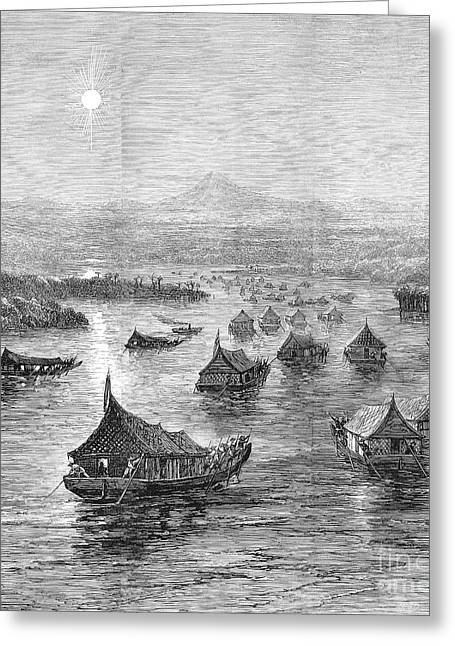 1876 Greeting Cards - Malaya: Perak River, 1876 Greeting Card by Granger