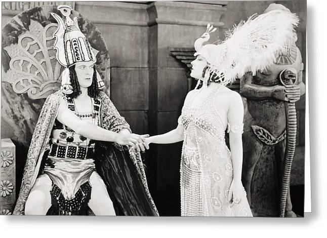 Pharaoh Greeting Cards - Male And Female, 1919 Greeting Card by Granger