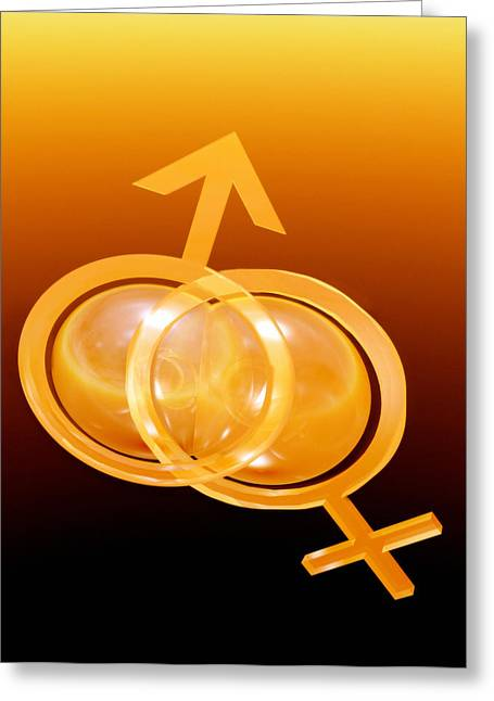 Commit Greeting Cards - Male And Female Symbols Greeting Card by Victor Habbick Visions