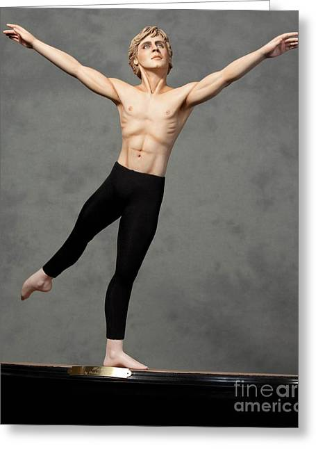 Strength Sculptures Greeting Cards - Male Dancer Greeting Card by Vickie Arentz