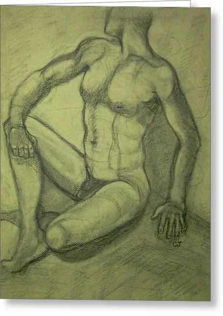 Will Jones Greeting Cards - Male nude Greeting Card by Cj