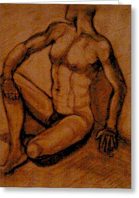 Will Jones Greeting Cards - Male nude rust Greeting Card by Cj