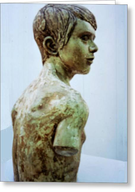 Realism Sculptures Greeting Cards - Male Youth Greeting Card by Sarah Biondo
