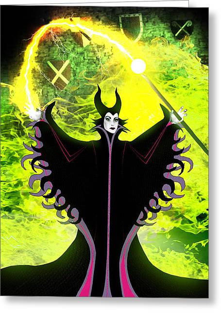 Maleficent Greeting Cards - Maleficent Greeting Card by Russell Clenney