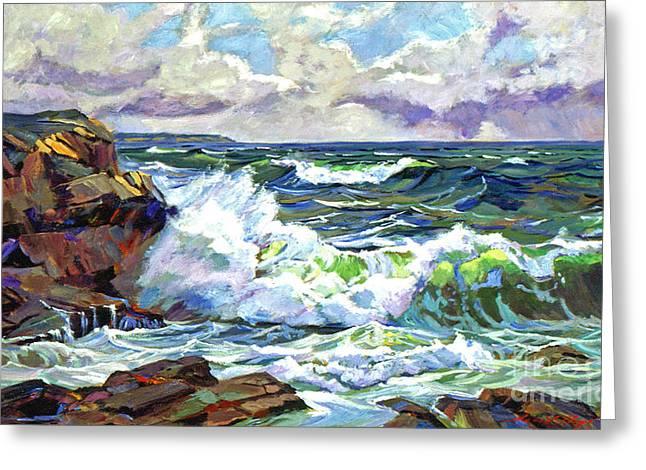 Breakers Greeting Cards - Malibu Cove Greeting Card by David Lloyd Glover