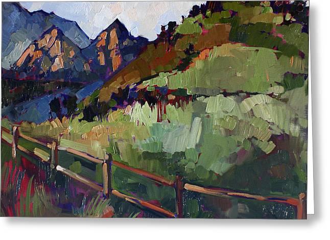 Oak Creek Paintings Greeting Cards - Malibu Greens Greeting Card by Erin Hanson