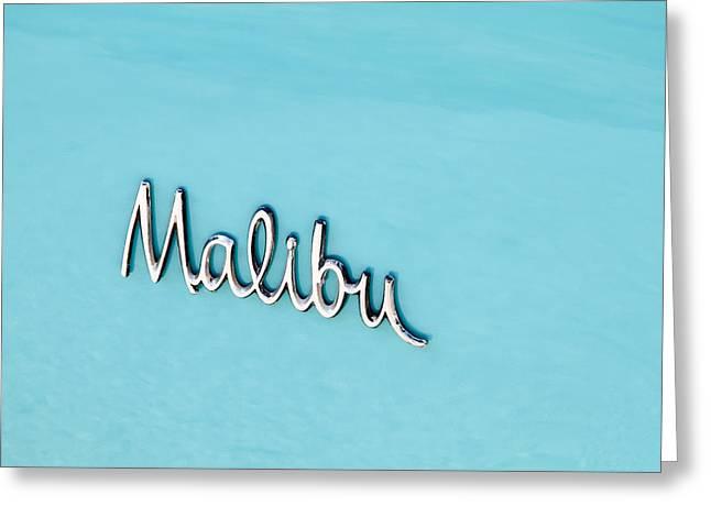 Car Insignia Greeting Cards - Malibu Insignia Greeting Card by Tony Grider