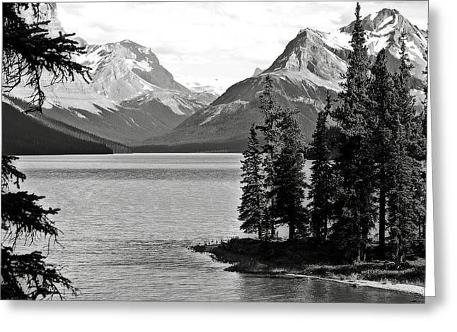 Leah Greeting Cards - Maligne Lake Greeting Card by RicardMN Photography