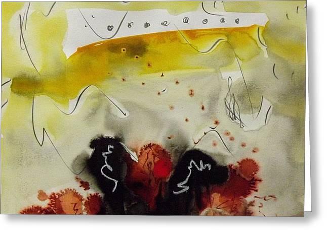 Pencil On Canvas Greeting Cards - Malta  Iii. Greeting Card by Jorgen Rosengaard