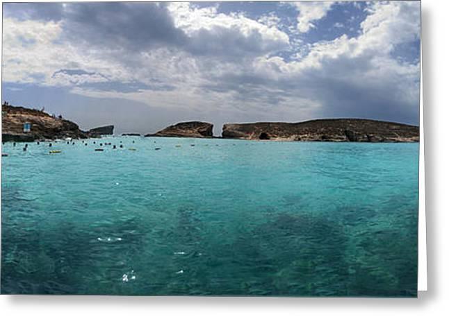 Malta Mediterranean Beach Greeting Card by Guy Viner