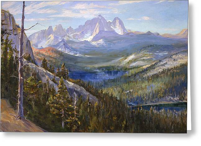 Mammoth Lakes In The High Sierras Greeting Card by Lewis A Ramsey