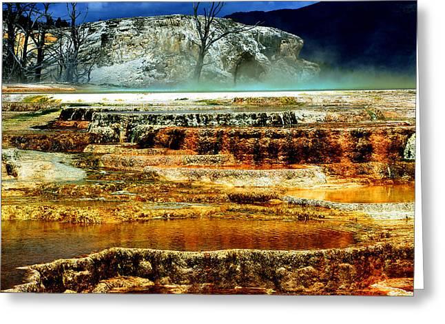 Mammoth Terrace - Yellowstone Greeting Card by Ellen Heaverlo