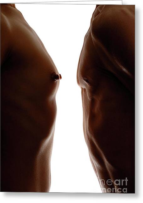 Adultery Greeting Cards - Man and Woman Greeting Card by Oleksiy Maksymenko