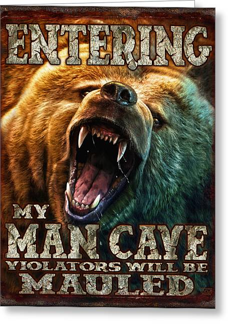 Man Cave Greeting Cards - Man Cave Greeting Card by JQ Licensing
