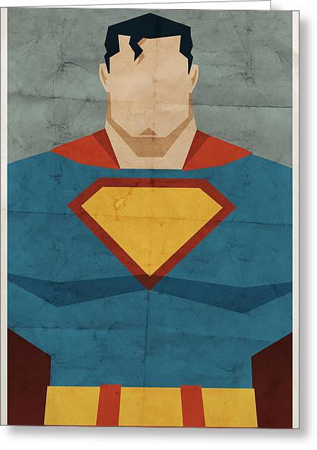 Book Greeting Cards - Man Of Steel Greeting Card by Michael Myers