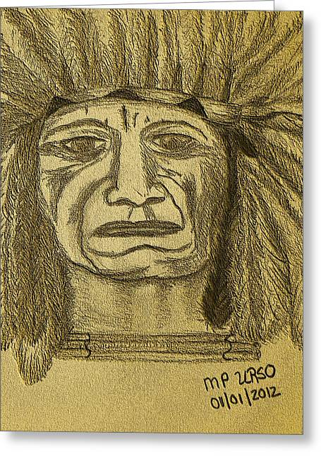 Important Drawings Greeting Cards - Man of Wisdom - D Greeting Card by Maria Urso