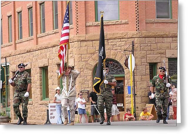 Mancos Greeting Cards - Mancos Days Color Guard Greeting Card by FeVa  Fotos