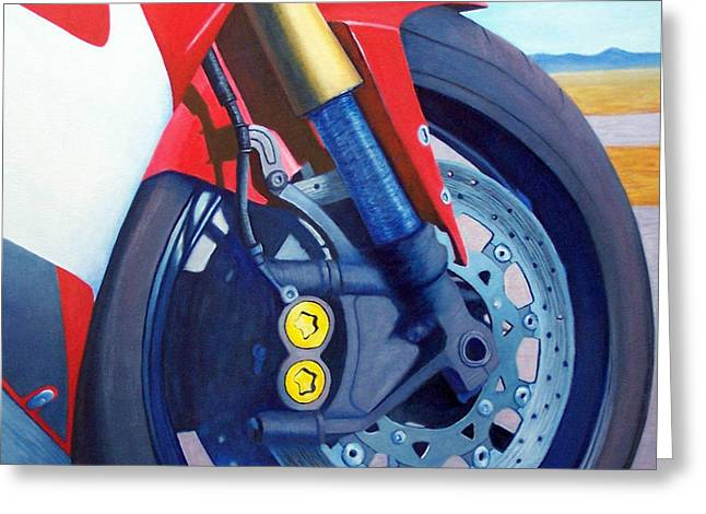 Motorcycle Greeting Cards - Mandala - Yamaha R6 Greeting Card by Brian  Commerford