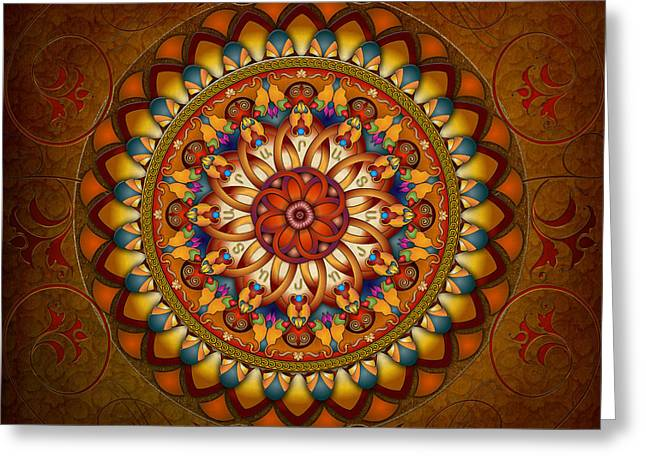 Armenia Greeting Cards - Mandala Ararat Greeting Card by Bedros Awak