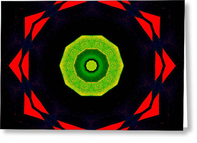 Unequal Greeting Cards - Mandala Colection Greeting Card by Susana Sanchez Giraud