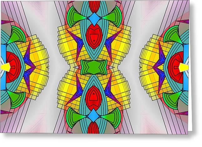 Mandala Mystery Greeting Card by Mario Carini