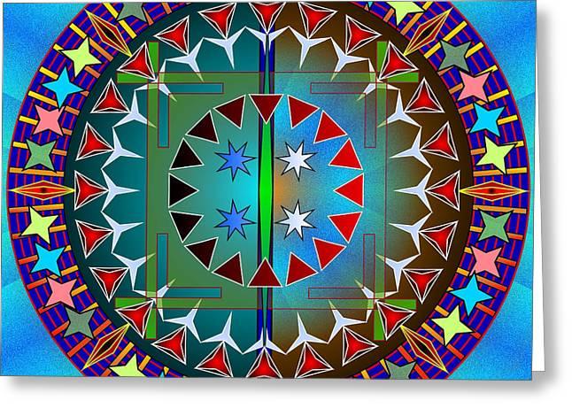 Mario Carini Greeting Cards - Mandala of the Sky Greeting Card by Mario Carini