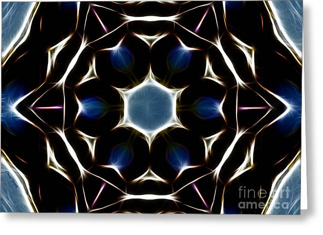 Trance Greeting Cards - Mandala Star Greeting Card by Cheryl Young