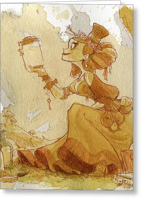 Steampunk Greeting Cards - Mandarin Greeting Card by Brian Kesinger