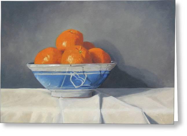 Orange. Greeting Cards - Mandarines Greeting Card by John Holdway