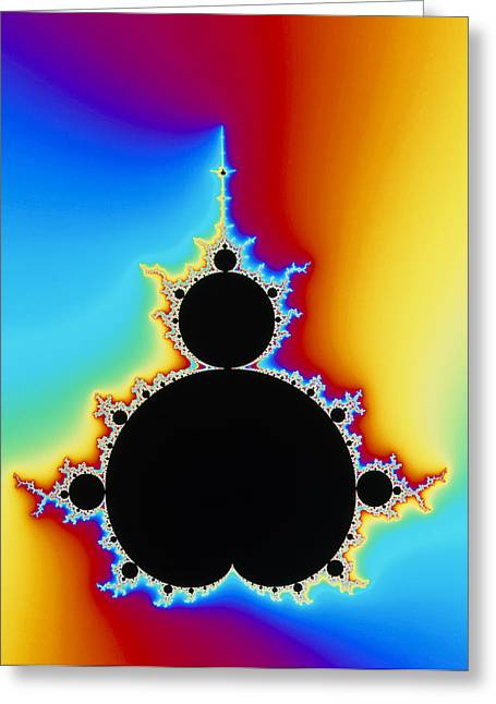 Fractal Image Greeting Cards - Mandelbrot Fractal Greeting Card by Pasieka