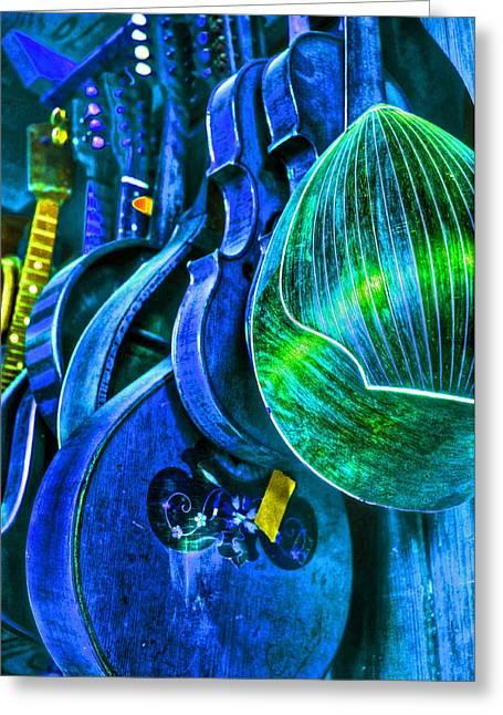 Mandolin Blues Greeting Card by Frank SantAgata