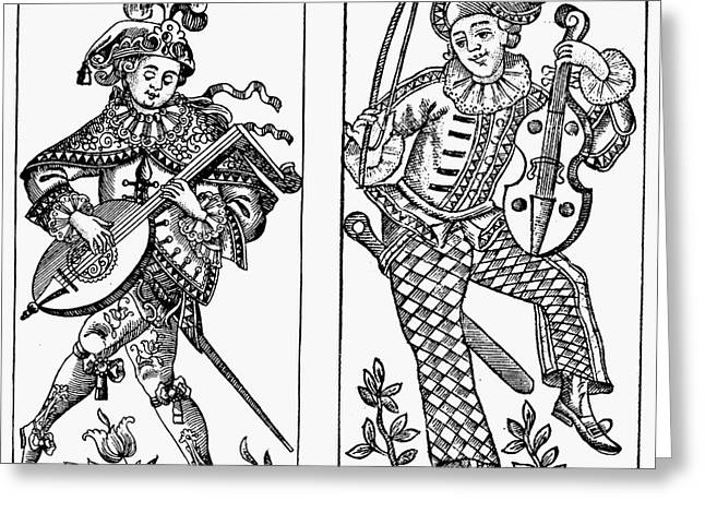 1750 Greeting Cards - Mandolin Player, 1750 Greeting Card by Granger