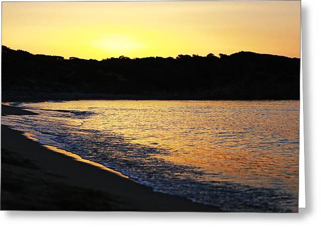 Mandraki Greeting Cards - Mandraki Elias Beach Sunset Skiathos Greeting Card by Nick Karvounis