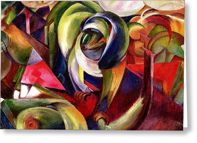 Marc Greeting Cards - Mandrill Greeting Card by Franz Marc