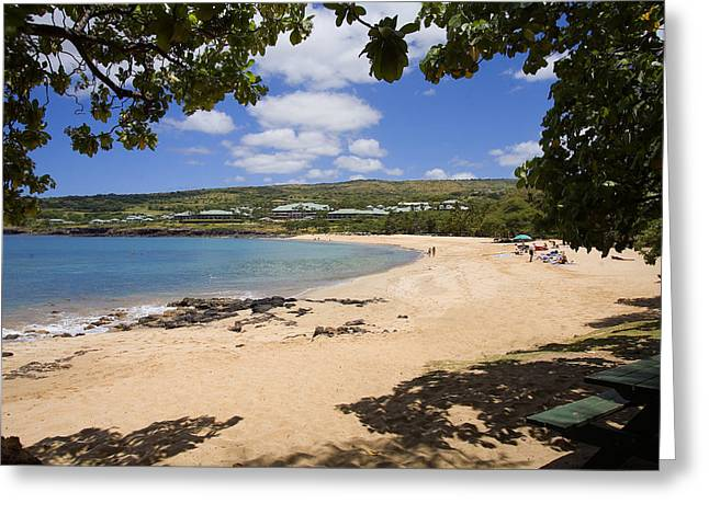 Flat Four Greeting Cards - Manele Bay II Greeting Card by Ron Dahlquist - Printscapes