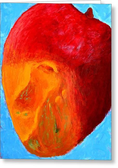 Mango Paintings Greeting Cards - Mango Monstrosity Greeting Card by Dan Gillis