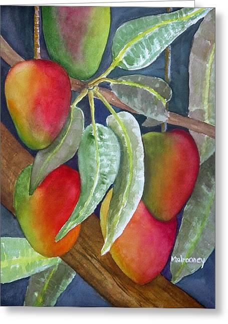 Mango Greeting Cards - Mango One Greeting Card by Terry Arroyo Mulrooney