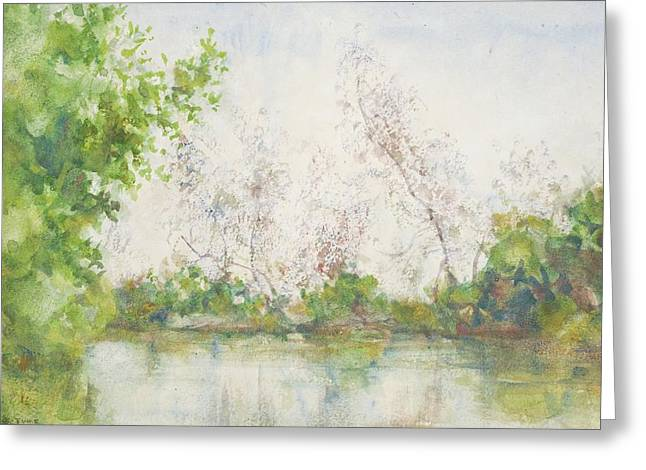 Mangrove Trees Greeting Cards - Mangrove Swamp Greeting Card by Henry Scott Tuke