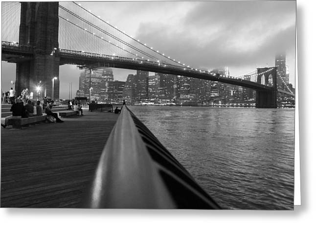 Manhattan Bridge Greeting Card by Nina Mirhabibi