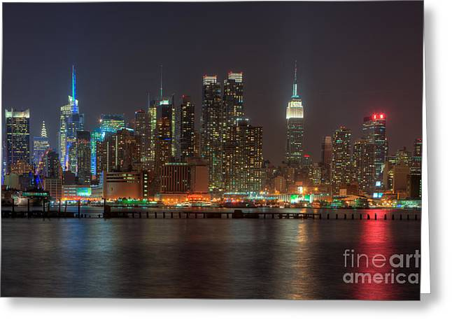 Nast Greeting Cards - Manhattan Twilight VI Greeting Card by Clarence Holmes