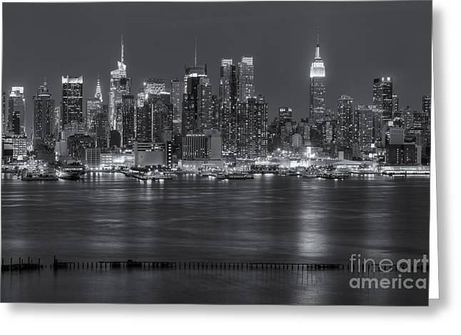 Nast Greeting Cards - Manhattan Twilight VII Greeting Card by Clarence Holmes
