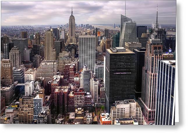 Busy Life Greeting Cards - Manhattan02 Greeting Card by Svetlana Sewell