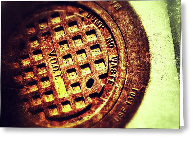 Manhole Greeting Cards - Manhole 3 Greeting Card by Olivier Calas