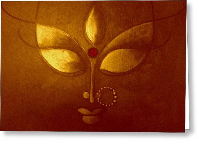 Goddess Kali Greeting Cards - Manifesting Greeting Card by Sonali Chaudhari