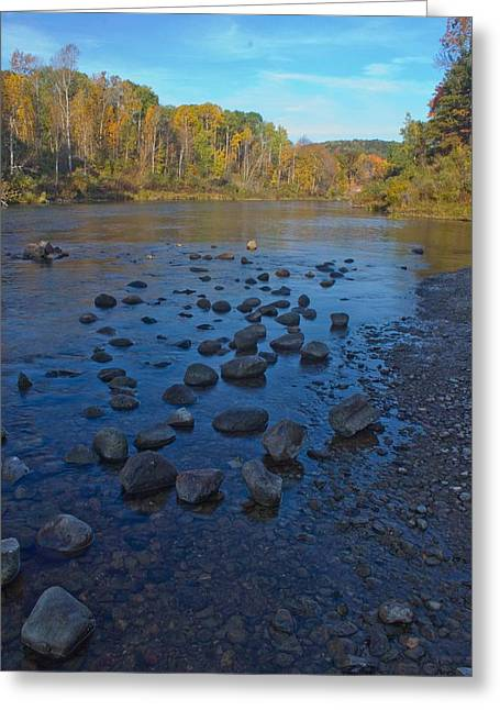 Fly Fishing Art Print Greeting Cards - Manistee River in Fall Greeting Card by Twenty Two North Photography