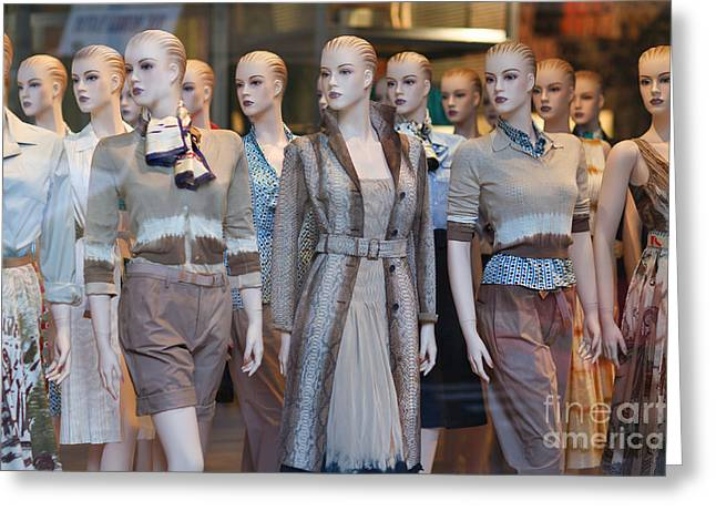 Apparel Greeting Cards - Mannequins I Greeting Card by Clarence Holmes