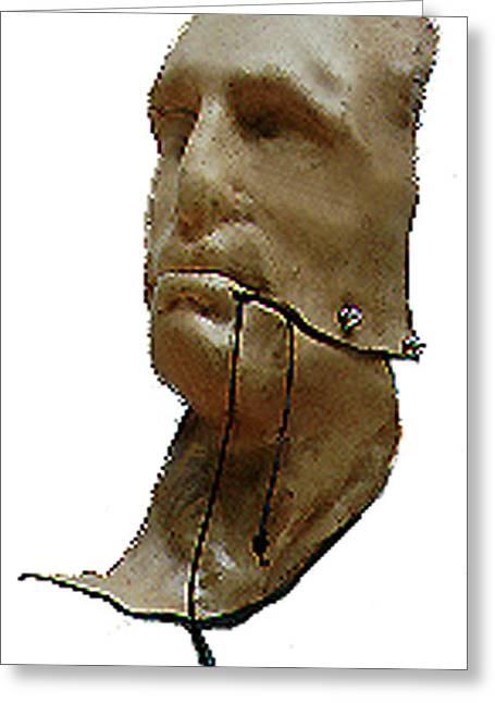 Men Sculptures Greeting Cards - Mans Inhumanity Greeting Card by Sarah Biondo